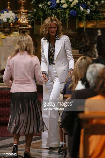 Elle Macpherson during Elle Macpherson and Arpad Busson in Rome for the Baptism of their Son Aurelius cy Andrea at Basilica Santa Maria Maggiore in...