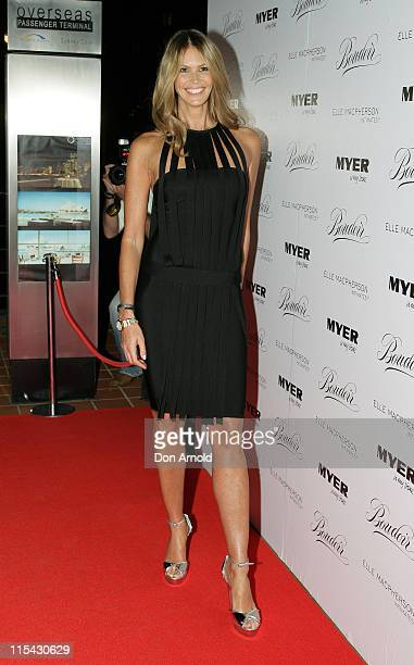 Elle MacPherson during Elle Macpherson Boudoir Collection Launch at Quay Restaurant in Sydney Australia