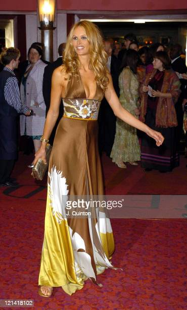 Elle MacPherson during 'Mary Poppins' Gala Evening Inside Arrivals at Prince Edward Theatre in London Great Britain