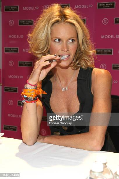 Elle Macpherson during ModelCo Names Elle Macpherson as Spokesperson for ERASE Those Fine Lines at Henri Bendel at 712 Fifth Avenue in New York City...