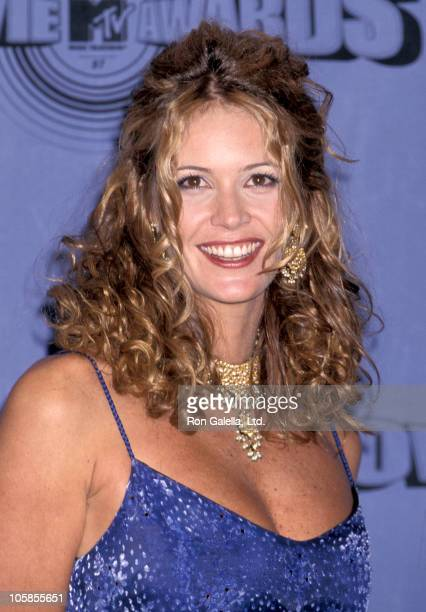 Elle Macpherson during The 1997 MTV Movie Awards at Barker Hanger in Santa Monica California United States