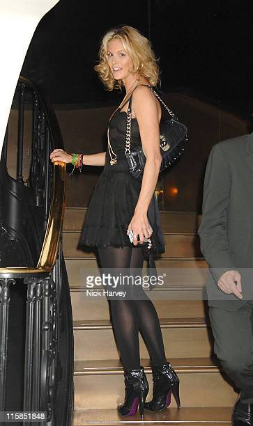 Elle Macpherson during Virgin Unite host End Fistula Fundraising event Inside at Nobu Berkeley in London Great Britain