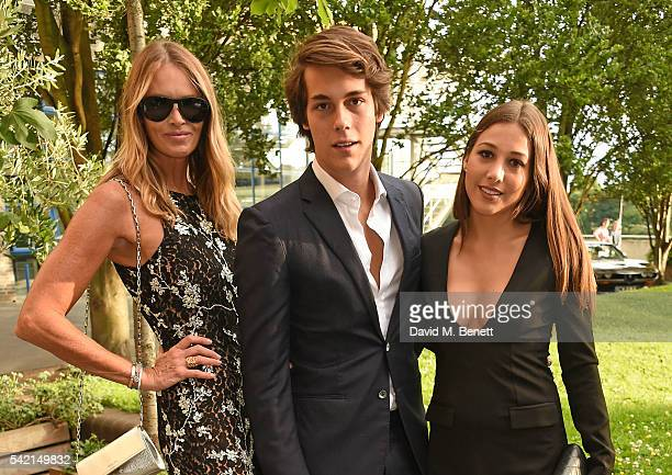 Elle Macpherson Flynn Busson and Camille Martayan attend a private dinner hosted by Michael Kors to celebrate the new Regent Street Flagship store...
