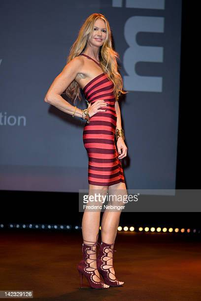 Elle Macpherson Introduces her TV Show ' Fashion Star' at the MipTV on April 2 2012 in Cannes France