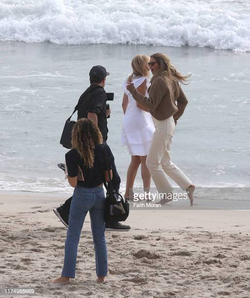 Elle Macpherson is seen at Cottesloe Beach on September 16 2019 in Perth Australia