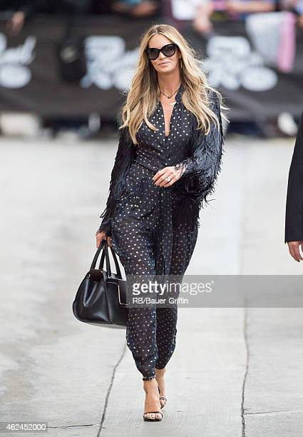 Elle Macpherson is seen at 'Jimmy Kimmel Live' on January 28, 2015 in Los Angeles, California.