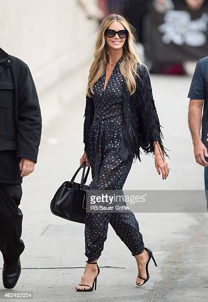 Elle Macpherson is seen at 'Jimmy Kimmel Live' on January 28 2015 in Los Angeles California