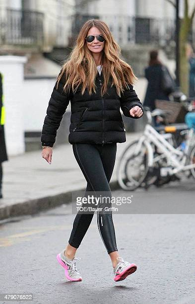 Elle Macpherson is seen on January 26 2011 in London United Kingdom