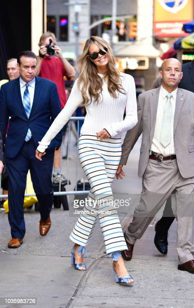Elle Macpherson leaves ABC Studios in Times Square on September 19 2018 in New York City