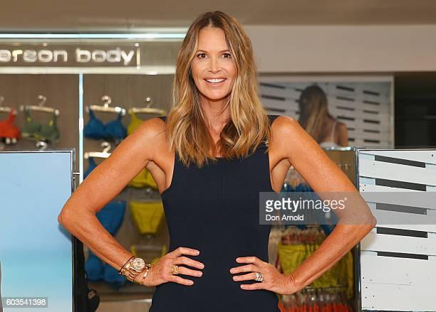 Elle Macpherson poses during the launch of Elle Macpherson Body at Myer Sydney on September 13 2016 in Sydney Australia