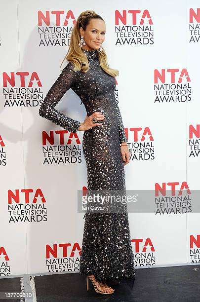 Elle Macpherson poses in the press room at the National Television Awards 2012 at the O2 Arena on January 25, 2012 in London, England.