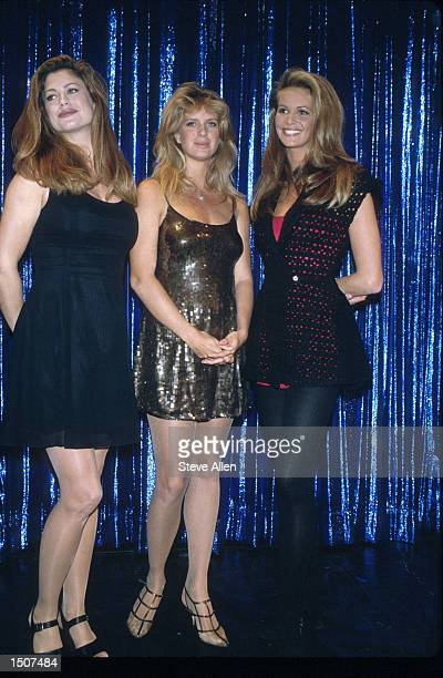 Elle MacPherson Rachel Hunter and Kathy Ireland attend Sports Illustrated Swimsuit Party in NYC New York February 8 1994