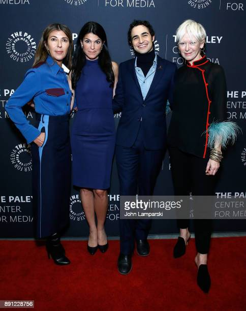 Elle Magazine editorinchief Nina Garcia president and CEO of the Paley Center Maureen J Riedy fashion designer Zac Posen and Chief content Officer...