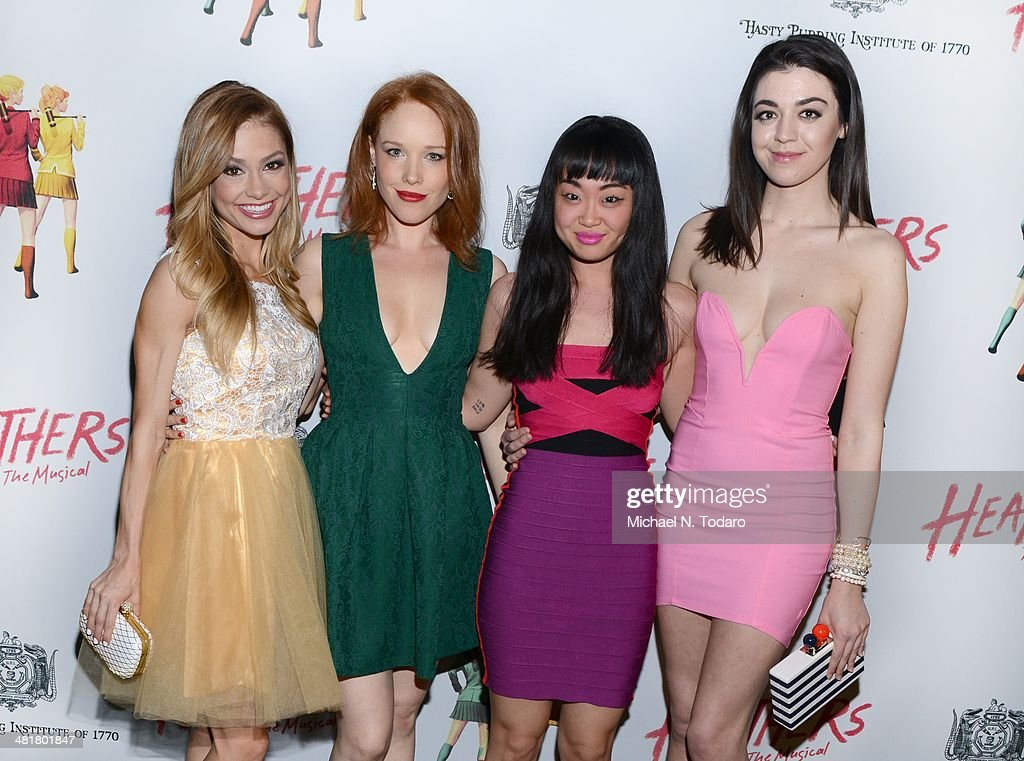 Elle McLemore, Alice Lee, Jessica Keenan Wynn and Barrett Wilberty Weed attend the off Broadway opening night of 'Heathers The Musical' at New World Stages on March 31, 2014 in New York City.