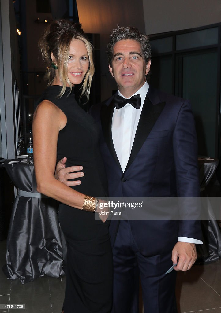 Elle McPherson (L) and Jeffrey Soffer during Pritzker Architecture Prize 2015 at New World Symphony on May 15, 2015 in Miami Beach, Florida.