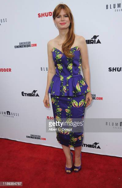Elle Schneider attends the 6th Annual Etheria Film Showcase held at American Cinematheque's Egyptian Theatre on June 29 2019 in Hollywood California