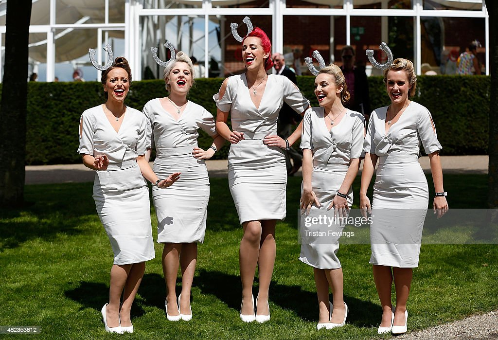 Elle & The Pocket Belles perform on day three of the Qatar Goodwood Festival at Goodwood Racecourse on July 30, 2015 in Chichester, England.