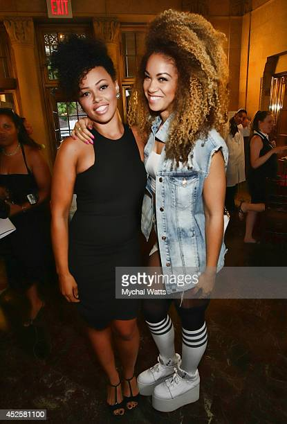 Elle Varner abd Daisha attends 'The Knick' special screening at The New York Academy Of Medicine on July 23 2014 in New York City