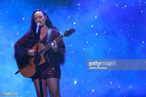 Elle Varner performs onstage at Black Girls Rock 2019 Hosted By Niecy Nash at NJPAC on August 25 2019 in Newark New Jersey