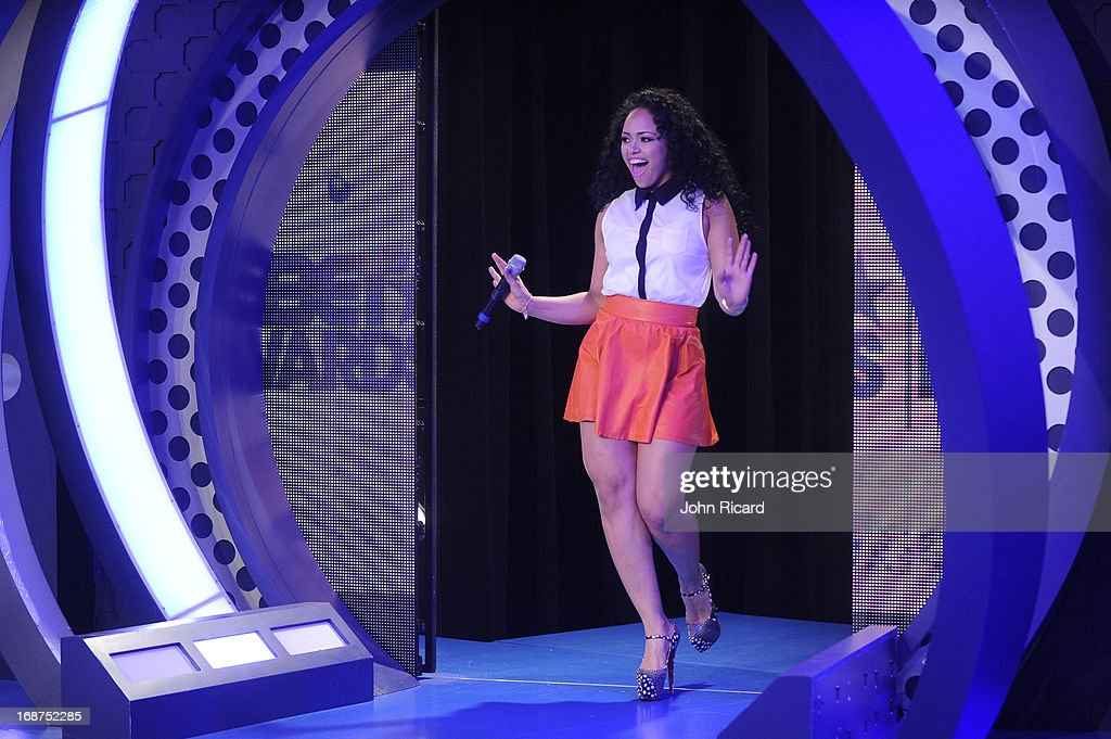 Elle Varner Presents 2013 BET Awards Nominations at 106 & Park Studio on May 14, 2013 in New York City.