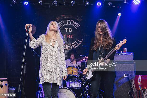 Elle Wade and Amina Bates perform on stage at Brudenell Social Club on June 3 2015 in Leeds United Kingdom