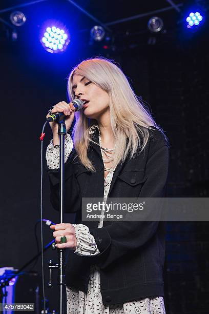 Elle Wade of FURS performs on stage at Brudenell Social Club on June 3 2015 in Leeds United Kingdom