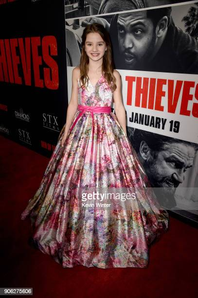 Elle Whitfield attends the premiere of STX Films' 'Den of Thieves' at Regal LA Live Stadium 14 on January 17 2018 in Los Angeles California