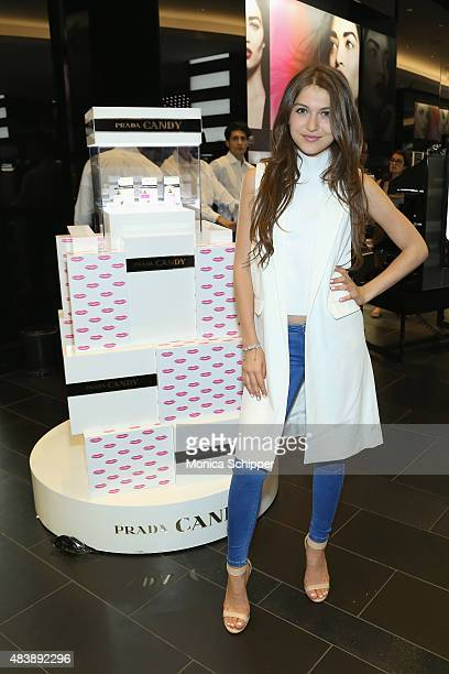 Elle Winter attends the Teen Vogue celebration of the Prada Candy Fragrance Collection at Sephora Union Square on August 13 2015 in New York City