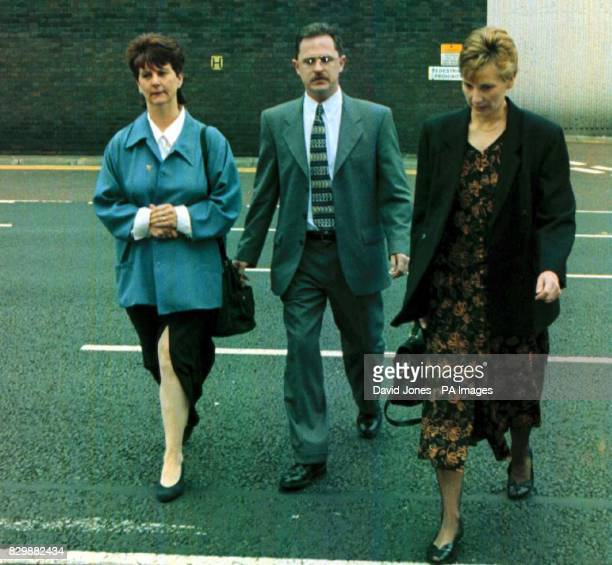 Ellen and John Allen the estranged parents of Louise Allen who was killed after becoming involved in a disturbance near her home in Corby Northants...
