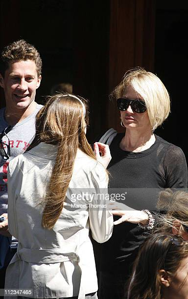 Ellen Barkin and daughter during Ellen Barkin and Daughter Sighting in SOHO - June 11, 2006 at SOHO in New York City, New York, United States.