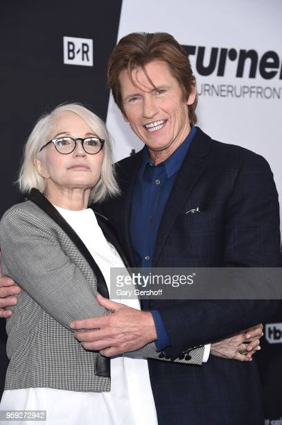 Ellen Barkin and Denis Leary attend the 2018 Turner Upfront at One Penn Plaza on May 16 2018 in New York City