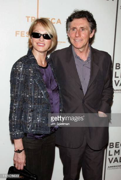 """Ellen Barkin and Gabriel Byrne during 5th Annual Tribeca Film Festival - """"Wah-Wah"""" Premiere and Reception at TPAC and Brandy Library in New York..."""
