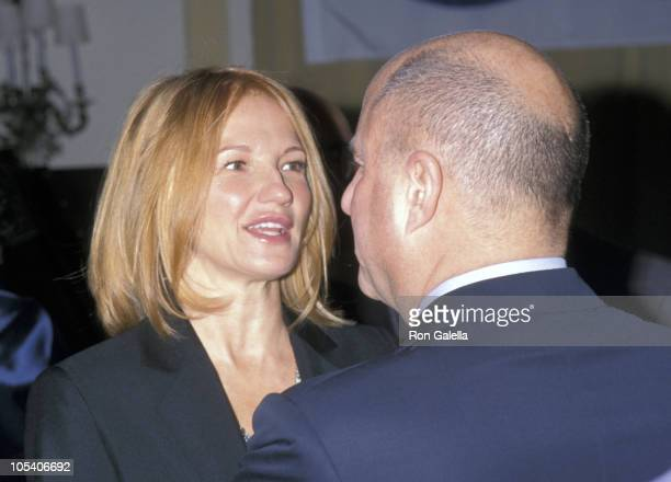 Ellen Barkin and Ron Perelman during National Breast Cancer Coalition and Revlon Gala Dinner at Pierre Hotel in New York City New York United States