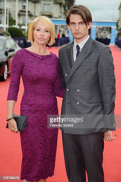 Ellen Barkin and Sam Levinson arrive for the 'Another Happy Day' screening during the 37th Deauville Film Festival on September 4 2011 in Deauville...