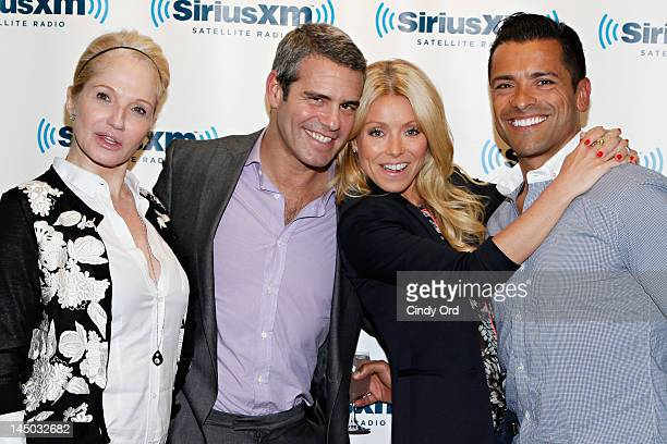 Ellen Barkin Andy Cohen Kelly Ripa and Mark Consuelos celebrate Andy Cohen's bestselling memoir 'Most Talkative' with a live 80s promthemed party at...