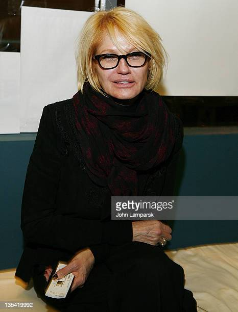 Ellen Barkin attends James X offbroadway opening night at the 45 Beecker Theatre on December 9 2011 in New York City