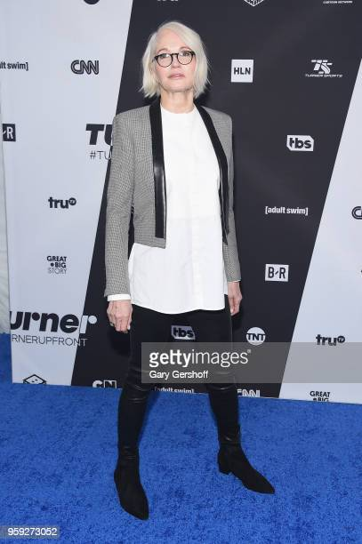 Ellen Barkin attends the 2018 Turner Upfront at One Penn Plaza on May 16 2018 in New York City