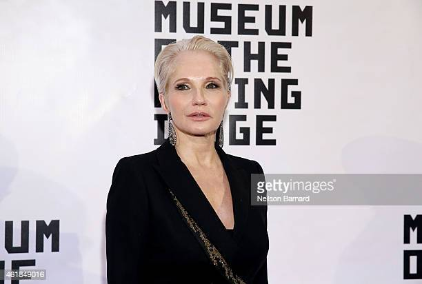 Ellen Barkin attends the Museum of The Moving Image honors Julianne Moore at 583 Park Avenue on January 20, 2015 in New York City.