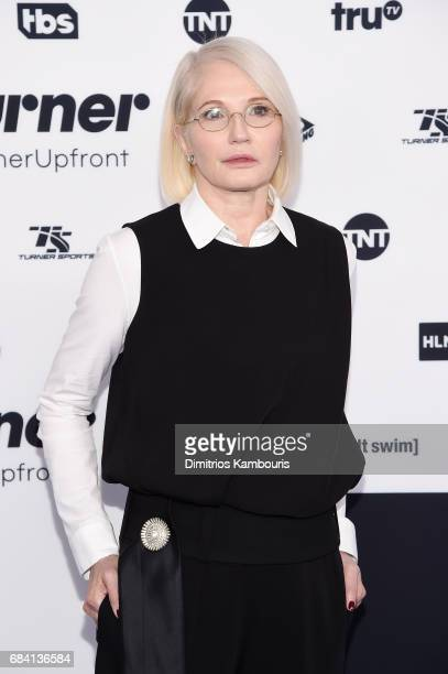 Ellen Barkin attends the Turner Upfront 2017 arrivals on the red carpet at The Theater at Madison Square Garden on May 17, 2017 in New York City....