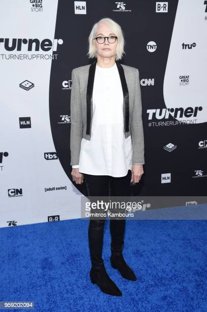 Ellen Barkin attends the Turner Upfront 2018 arrivals on the red carpet at The Theater at Madison Square Garden on May 16 2018 in New York City 376263