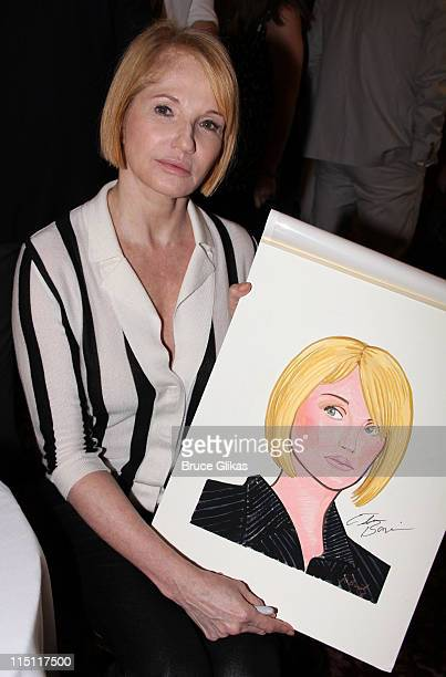 Ellen Barkin attends the unveiling of Broadway's Normal Heart cast caricature at Sardi's on June 2 2011 in New York City