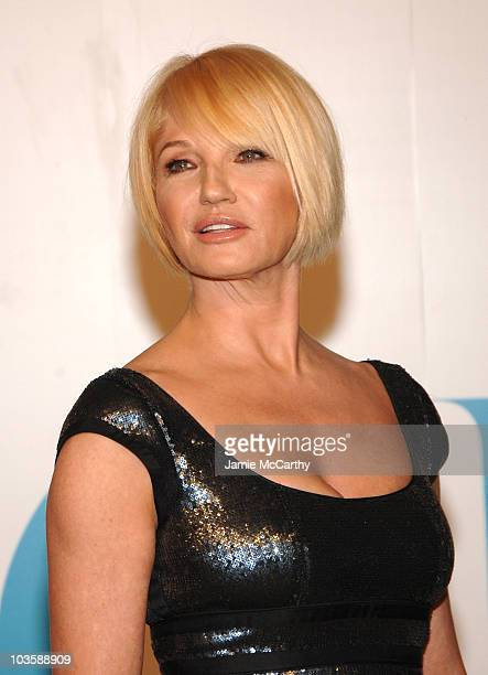 Ellen Barkin during 2007 CFDA Fashion Awards Red Carpet at The New York Public Library in New York City New York United States