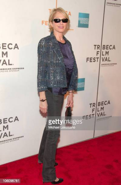 Ellen Barkin during 5th Annual Tribeca Film Festival Premiere of WahWah May 4 2006 at Tribeca Performing Arts Center in New York City New York United...