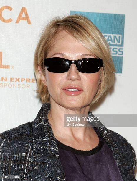 Ellen Barkin during 5th Annual Tribeca Film Festival 'WahWah' Premiere and Reception at TPAC and Brandy Library in New York City New York United...