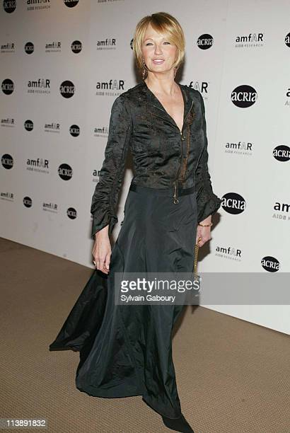 Ellen Barkin during amfAR and ACRIA Honor Herb Ritts for His Work and Activism at Sotheby's in New York New York United States