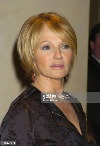Ellen Barkin during amfAR and ACRIA Honor Herb Ritts with a Sale of Contemporary Artwork Arrivals at Sothebys in New York New York United States
