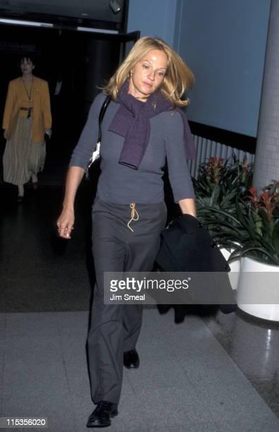 Ellen Barkin during Ellen Barkin at LAX January 15 1999 at Los Angeles International Airport in Los Angeles California United States