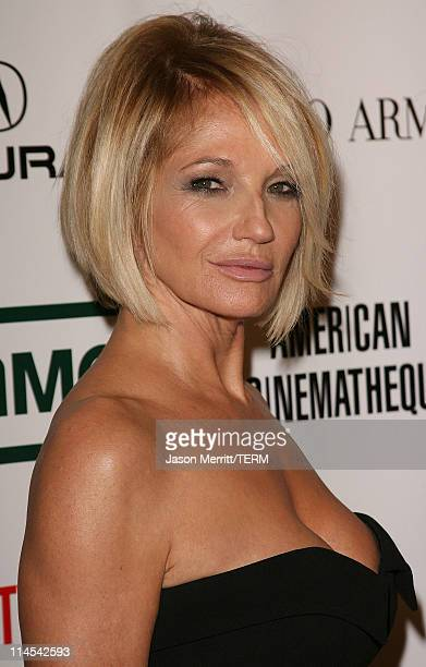 Ellen Barkin during The 21st Annual American Cinematheque Award Honoring George Clooney Arrivals at Beverly Hilton Hotel in Beverly Hills California...