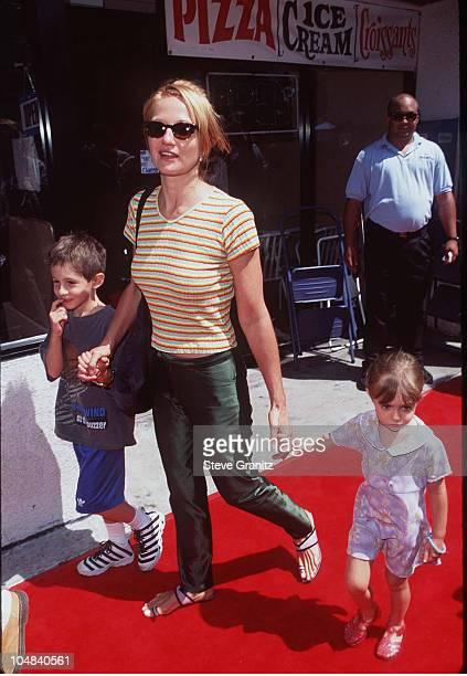 Ellen Barkin Kids during Matilda Los Angeles Premiere at Mann Culver Plaza Theatre in Culver City California United States
