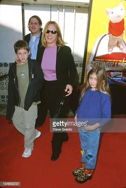 Ellen Barkin Kids during Stuart Little Los Angeles Premiere at Mann Village Theatre in Westwood California United States
